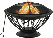 Fire Pit with Poker 75 cm XXL Steel - Youthup