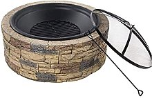 Fire Pit Wood Burning Wood Heating Faux Stone