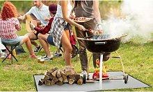 Fire Retardant BBQ Grill Floor Mat: 80cm x 80cm/Two
