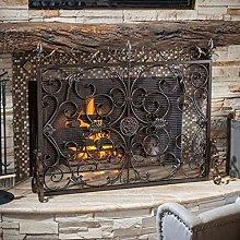 Fire screens European Style Roman Pattern Wrought