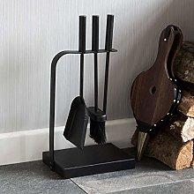 Fire Vida Aston Fire Companion Set, Metal, Black,