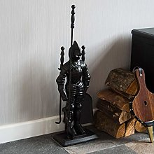 Fire Vida Knight Soldier Fireplace Companion Set,