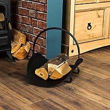 Fire Vida Log Holder Black Fireside Accessory
