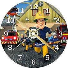 Fireman Sam Novelty 12cm Cd Clock + Free Desktop