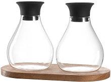 Firenze Oil and vinegar set - / Avec support bois