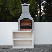 Firenze Outdoor Barbecue with Side Table