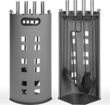 Fireplace accessories Set - grey