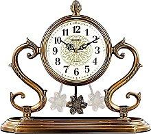 Fireplace Clock,Copper-Plated Pendulum Clock Large