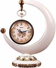 Fireplace Clock European Desk Clock Mute Clock