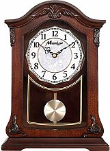 Fireplace Clock Mantle Clock Solid Wood Sit Bell