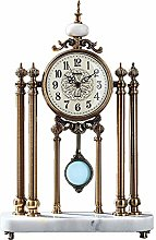 Fireplace Clock Pendulum Clock Retro Clock Metal