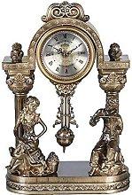 Fireplace Clock With Pendulum Desk Clock Mute