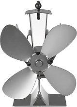 Fireplace Fan 2/4 Blades Wood Stove Fan Silent