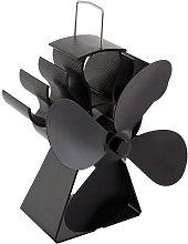 Fireplace Fan 4 Blade Eco-Friendly Black Stove Fan