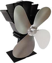 Fireplace fan 4-blade thermodynamic fan,