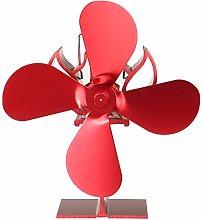 Fireplace Fan 4 Blades Heat Powered Stove Fan