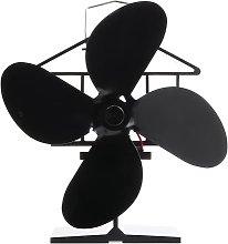 Fireplace Fan 4 Blades Heat Powered Stove Fan Wood