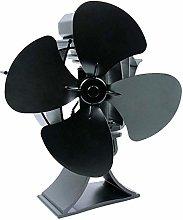 Fireplace Fan 4 Blades Heat Powered Wood Stove Fan