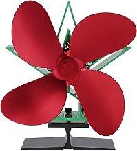Fireplace Fan 4 Blades Stove Fan Heat Powered