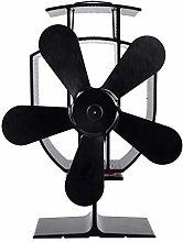 Fireplace Fan 5-Blade Heat Powered Stove Fan