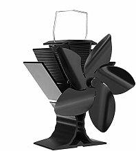 Fireplace Fan 5 Blade Wood Heater Stove Fan