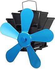 Fireplace Fan 5 Blades Super Quiet Heat Powered
