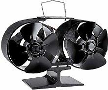 Fireplace Fan 8 Blades Double Head Heat Power Fan