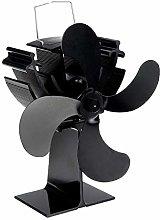 Fireplace Fan Eco Friendly 4-Blade Heat Powered