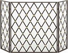 Fireplace Fence 3 Panel Adjustable Fireplace