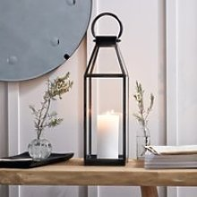 Fireplace Medium Lantern, Grey, One Size