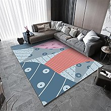 Fireplace Rug Flair Rugs Blue orange pink abstract