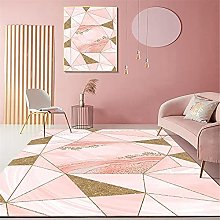 Fireplace Rug Large Rugs Pink Gold Geometric