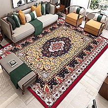Fireplace Rug Large Rugs Yellow red retro print