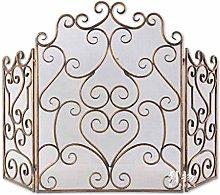 Fireplace Screen European Retro Color Wrought Iron