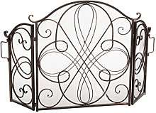 Fireplace screen Fireplace Screen Black Made Old