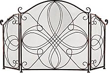 Fireplace Screen Fireplace Screen Red-Brown With