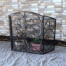 Fireplace Screen, Metal 3 Panel Fire Fence With