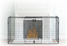 Fireplace Screen, Spark Guard, Steel Safety