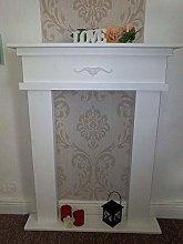 Fireplace surround, white, 12 cm depth