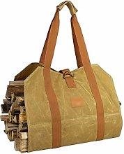 fireplace tool set Canvas Log Handbag Tote Strap,