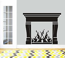Fireplace Vinyl Wall Stickers Home Living Room