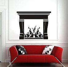 Fireplace Wall Decal Hot Fire Art Vinyl Window