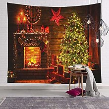 Fireplace Wall Hanging Tapestry, Wall Coverings