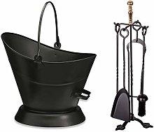 Fireside Black Waterloo Bucket + 5 Piece Companion