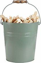 Fireside Coal Kindling Wood Scuttle Bucket Storage
