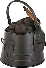Fireside Coal Scuttle Bucket with Carry Handle &