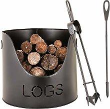 Fireside Companion Kindling Log Store Bucket,
