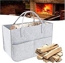 Firewood Bag Felt Bag Black Fireplace Wood Bag