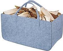 Firewood Basket, Diealles Felt Bag 50 x 25 x 25 cm