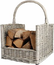 Firewood Basket Grey MW42 - Blue - Esschert Design